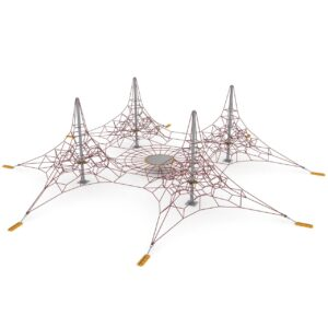 CLIMBING NET QUATRO WITH WEBh: 4-4-4-4 m